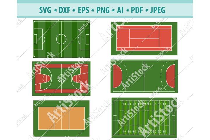 Stadium field SVG file, Sport court Svg, Sport Png, Eps, Dxf