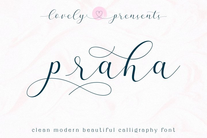 Praha - lovely clean modern calligraphy font