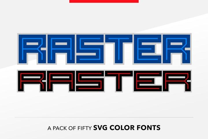SB Raster Color - SVG Color Font Pack