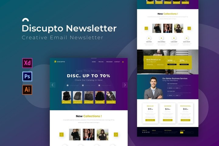 Discupto | Email Newsletter Template