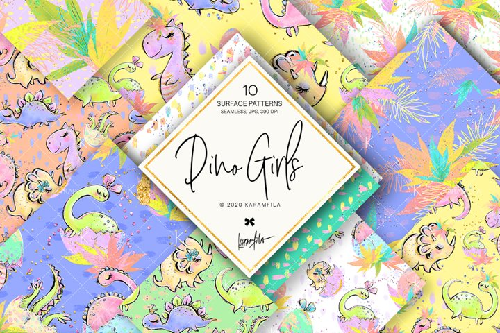 Dino Girl Patterns