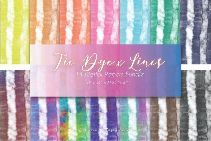 14 Tie Dye Art Digital Papers Pack