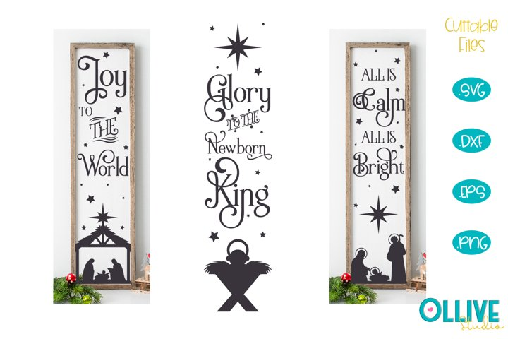Christmas Porch Sign Mini Bundle SVG