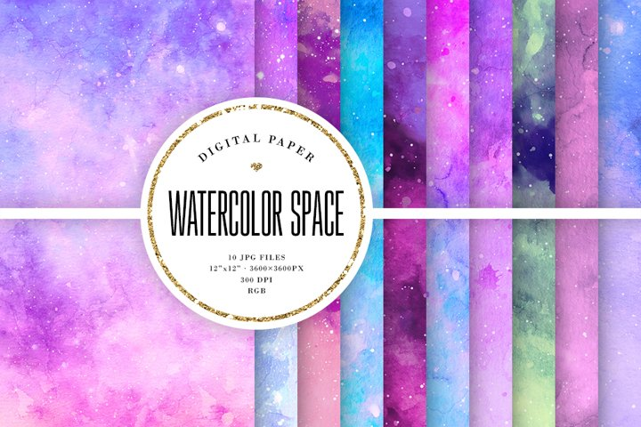 Watercolor Galaxy Backgrounds
