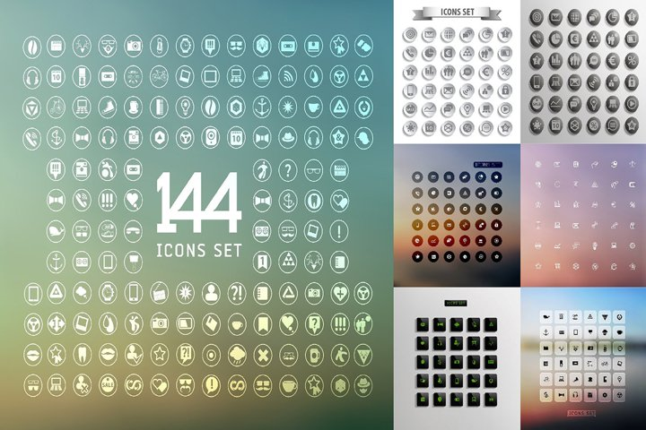 Universal modern icons bundle