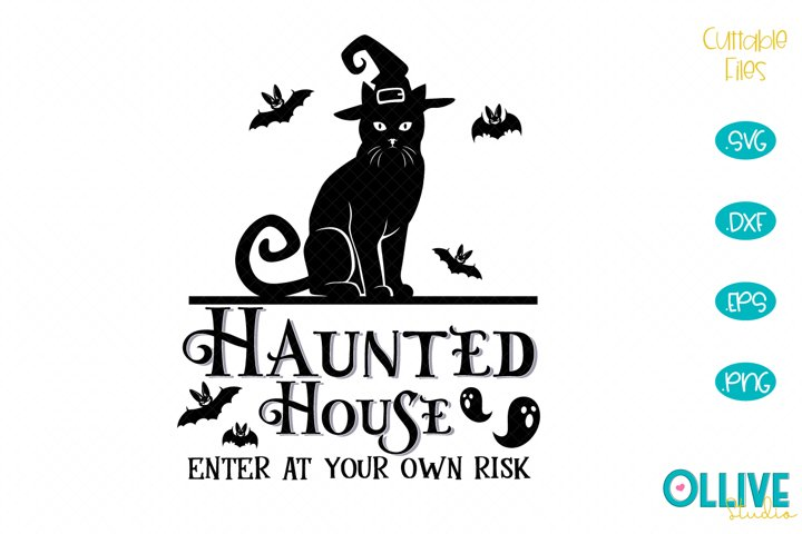 Haunted House Halloween SVG