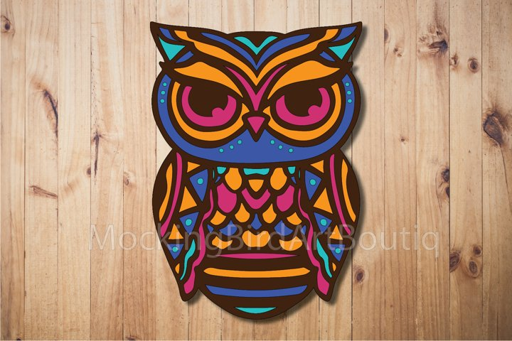 Colorful Owl Laser cut file