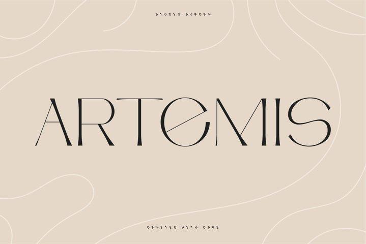 Artemis Semi serif typeface