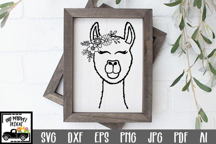 Llama SVG File - Alpaca SVG Cut File