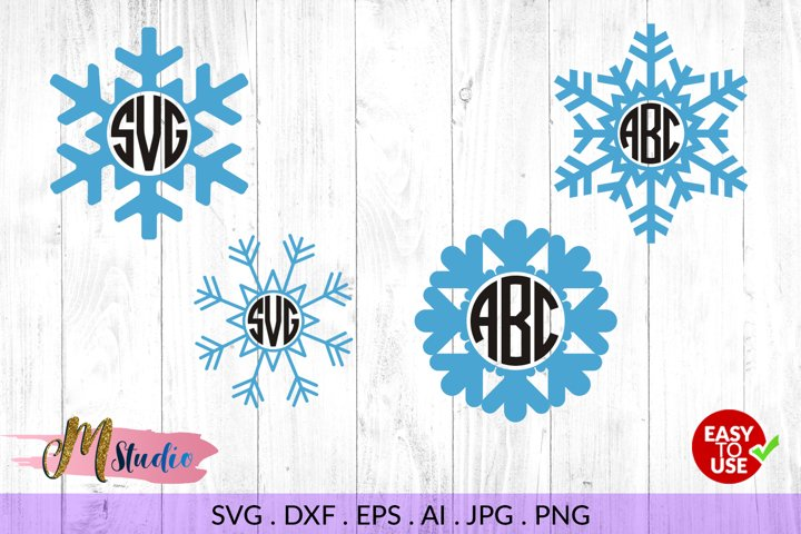 Snowflake svg, for Silhouette Cameo or Cricut example