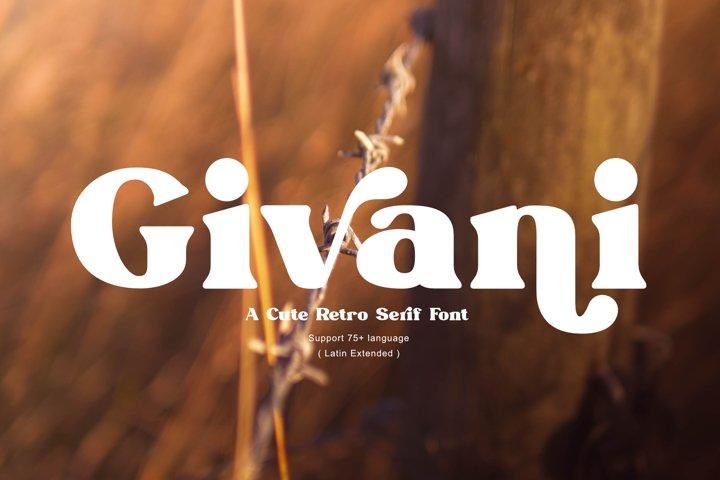 Givani - A cute retro serif font