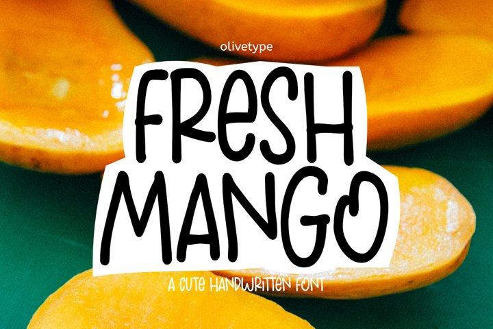 Fresh Manggo - a Cute Handwritten Font