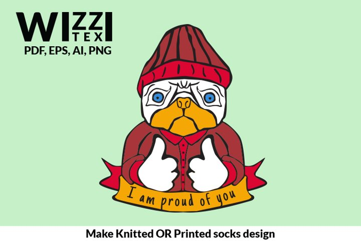 Funny Dog clipart | Dog Sock | Sock Designs |