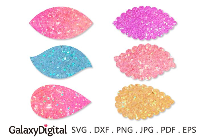 Leaf Snap Clip SVG, Hair Clip Cover Template SVG