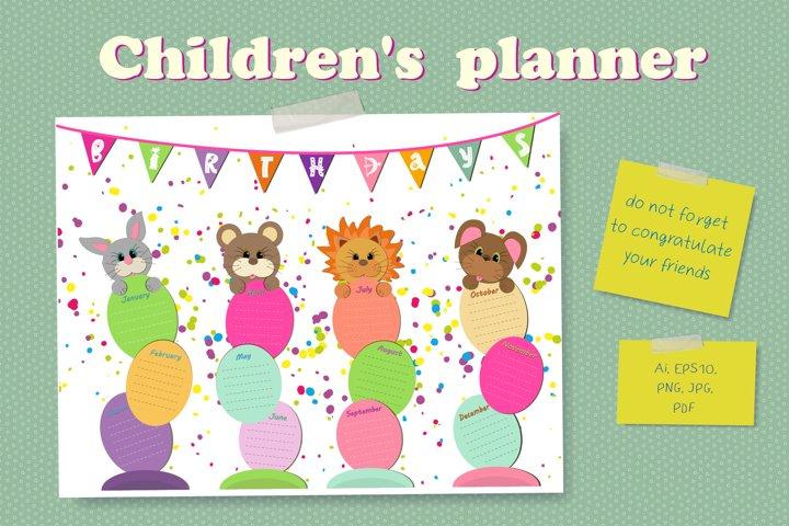 Childrens planner