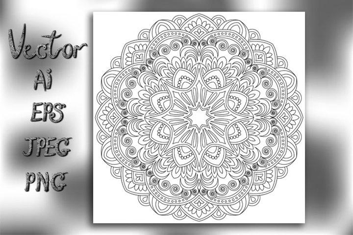 Flower Mandala. Vintage decorative elements. Vector