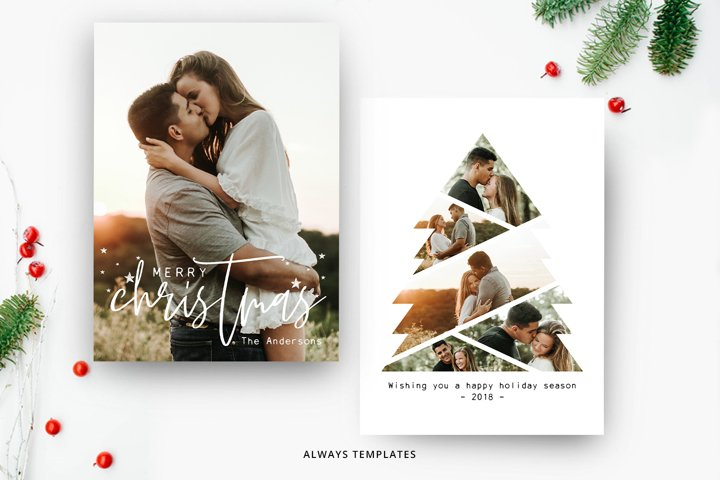 Christmas Tree Card Template CC003