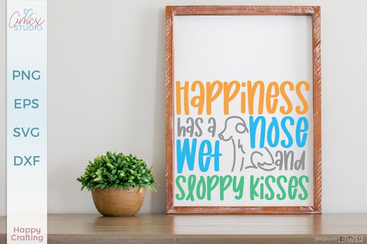 Dogs Make Me Happy - Cute Dog SVG FIles