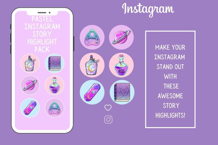 Pastel Instagram Story Highlights