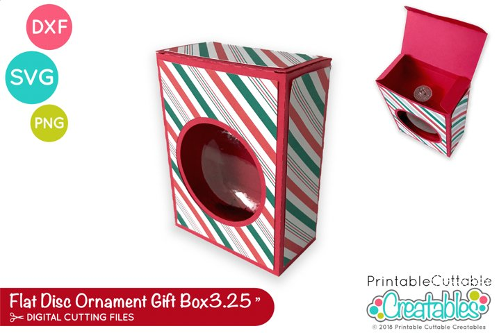 3.25 Flat Disc Ornament Box Template SVG | DXF Bauble Box