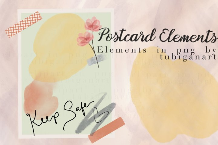Keep Safe Postcard Elements