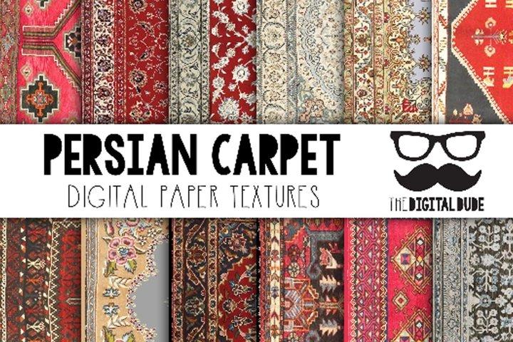 Persian Carpets - Digital Paper Set of 12 Images