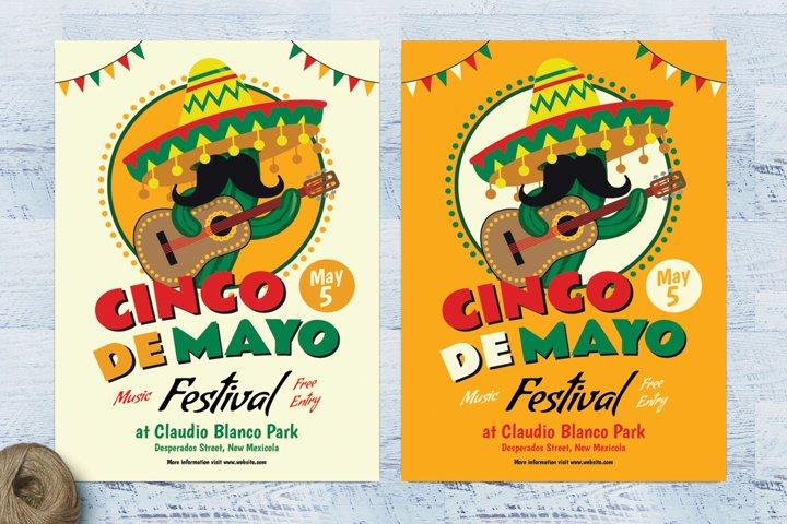 Cinco De Mayo Cactus Flyer
