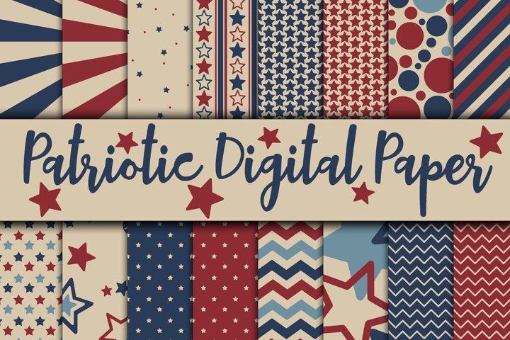 Patriotic Digital Paper