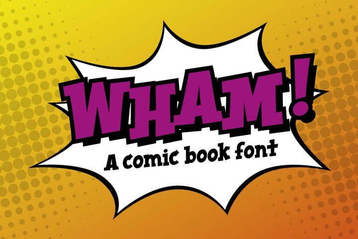 Wham! comic book cartoon font