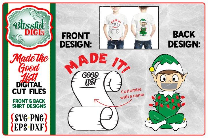 Made the Good List Elf - Vector Cut Files - Christmas SVG