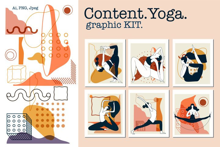 Content.Yoga.Graphic KIT