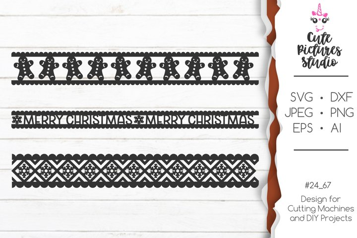 Christmas ornaments Cricut SVG bundle, Christmas ribbon SVG example