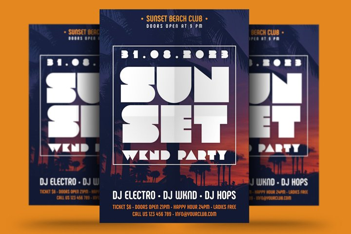 Sunset Party Flyer