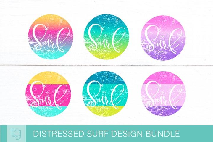 Distressed Surf Beach Sublimation Design Bundle