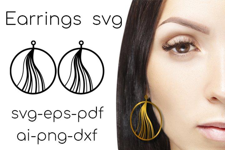 Earrings SVG. Earrings Cut File. Leather Earring svg. vol.3
