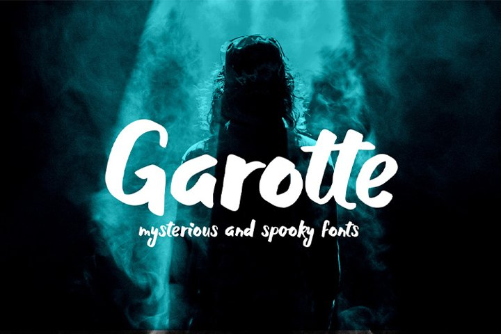 Garotte || scary graffiti font