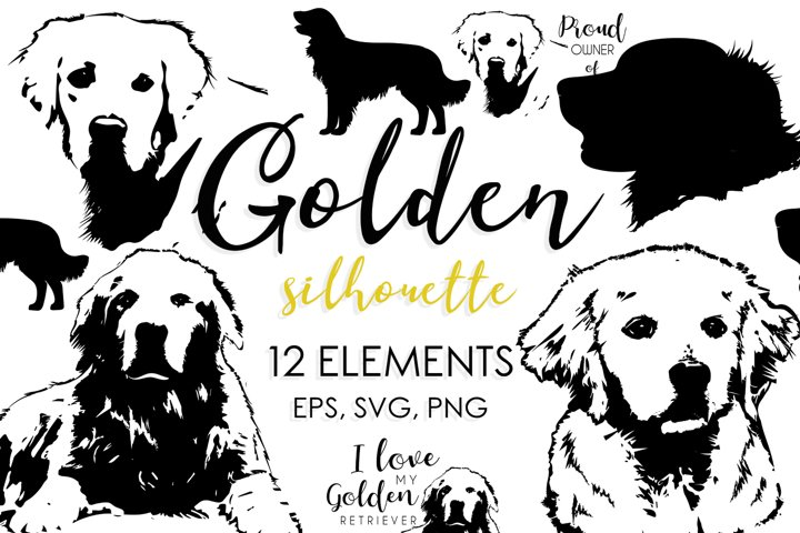 Dog Breeds, Dog Clipart, Dog Svg, Golden Retriever, Puppy