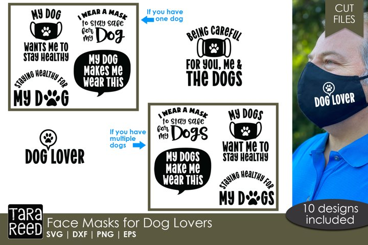 Face Mask Sayings for Dog Lovers - SVG and Cut Files