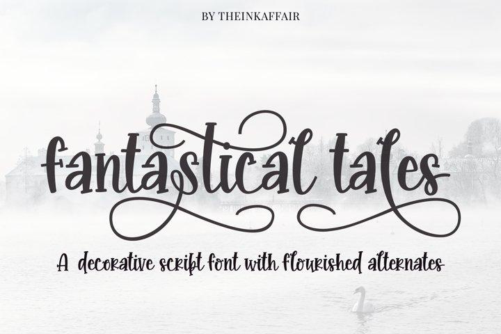 Fantastical tales, decorative script font