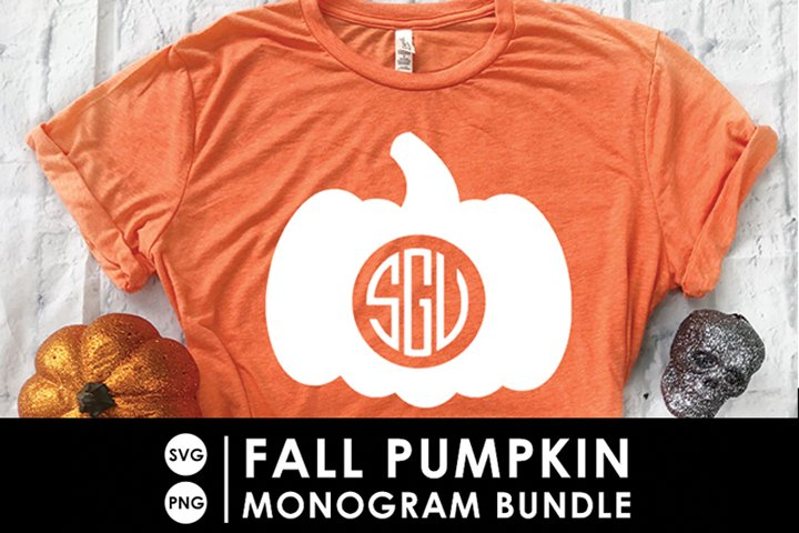 Fall Pumpkin Monogram SVG Bundle