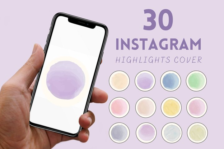 30 WATERCOLOR INSTAGRAM STORY HIGHLIGHT COVERS | Instagram
