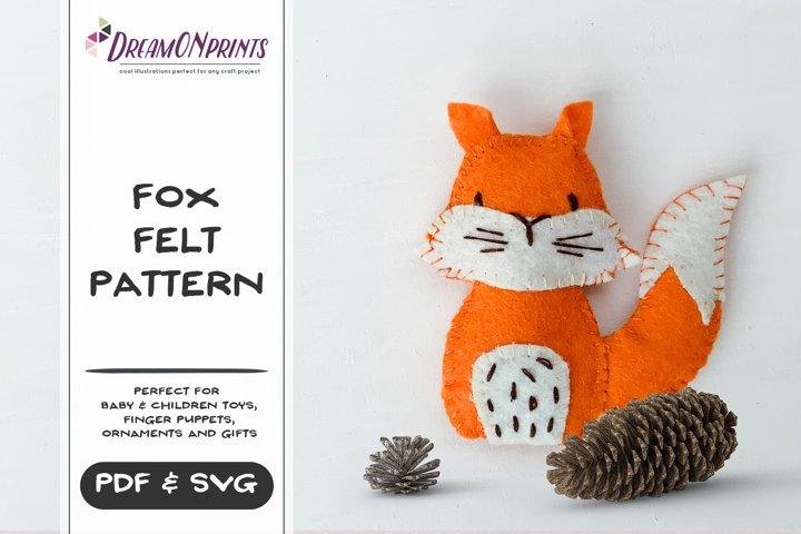 Fox Sewing Pattern | Mini Felt Animals | PDF Pattern