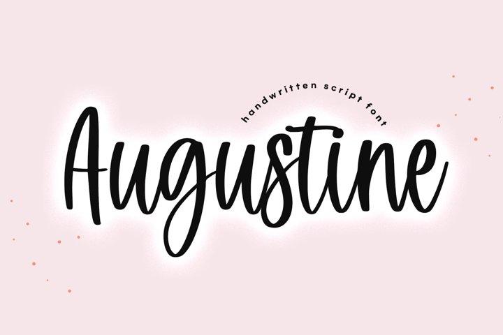 Augustine - Handwritten Script Font