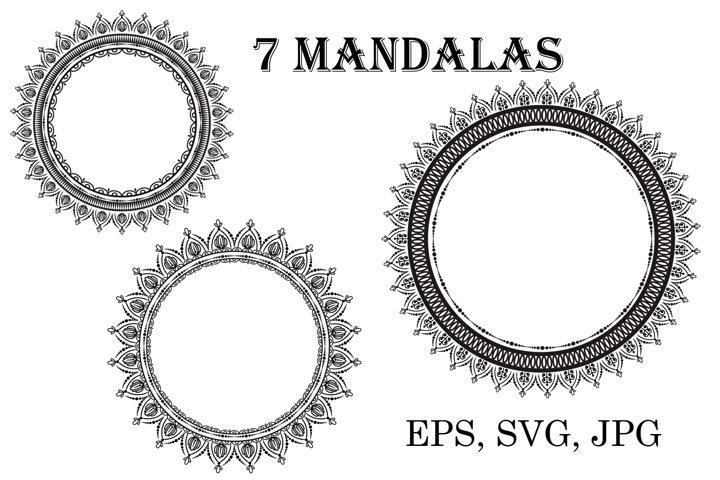 Mandalas. Round forms.