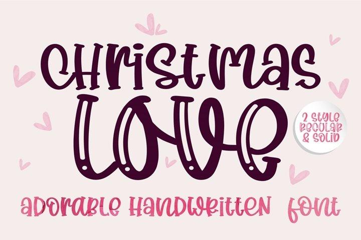 Christmas Love- A adorable handwritten mixed case font