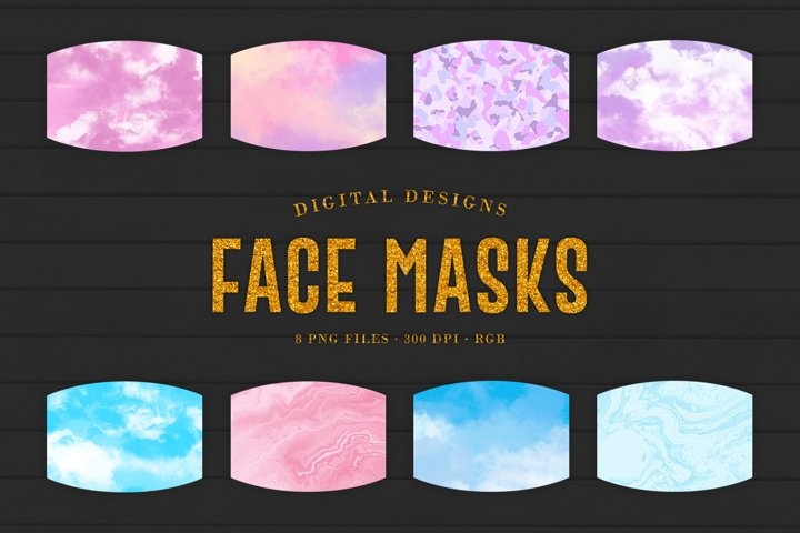 Simple Abstract Face Masks Designs For Sublimation