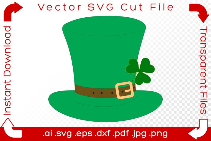 St. Patricks Day Hat SVG Lucky Cartoon Cut File for Makers