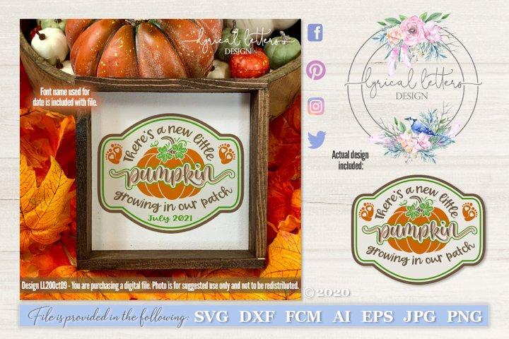 New Little Pumpkin Pregnancy Announcement SVG LL20Oct09
