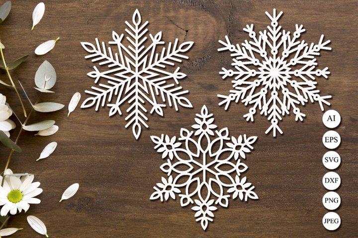 Snowflake svg laser cut, Christmas clipart, Monogram