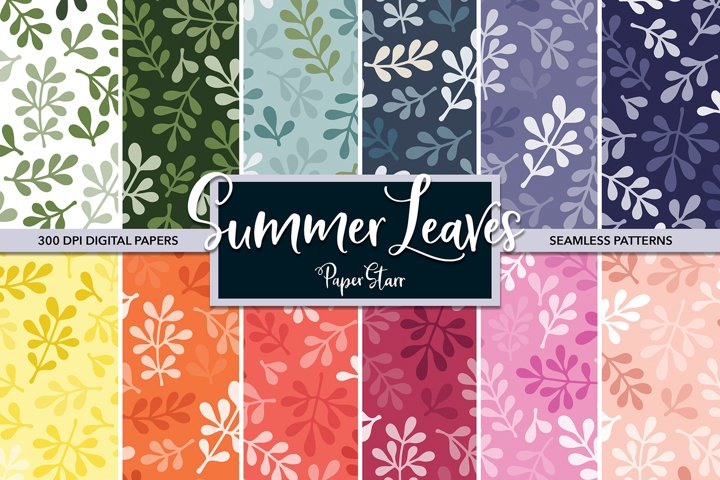 SEAMLESS Floral Digital Paper Set